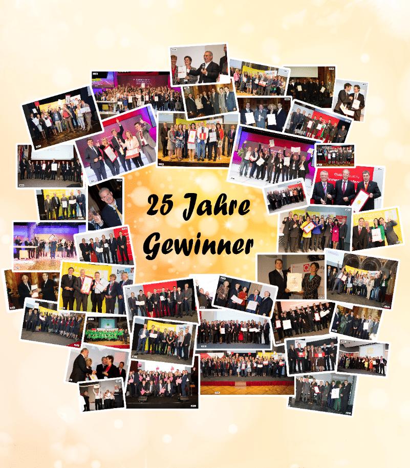 25 Jahre Staatspreis Unternehmensqualität - Gewinner
