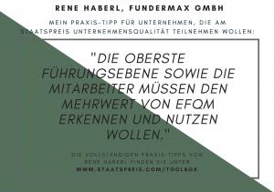 Staatspreis Tippkarte Fundermax Haberl