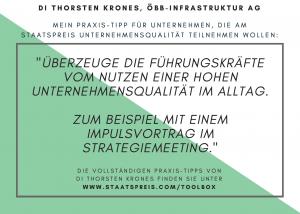Staatspreis Tippkarte ÖBB Infrastruktur Krones