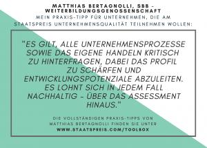 Staatspreis Tippkarte SBB Bertagnolli