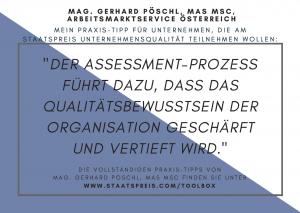 Staatspreis Tippkarte AMS Pöschl