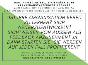 Staatspreis Tippkarte KAGes Meissl