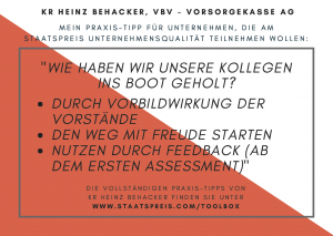 Staatspreis Tippkarte VBV Behacker