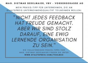 Staatspreis Tippkarte VBV Sedelmaier